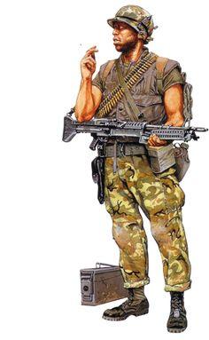 """""""Marine machine gunner, Vietnam"""", Ramiro Bujeiro"""