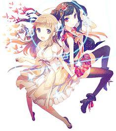 甘い運命. This is probably yuri, but it's kawaii!!!!