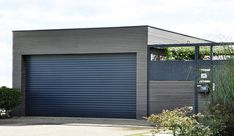Outdoor Wall Panels, Exterior Wall Panels, Garage Exterior, Outdoor Walls, Outdoor Decor, Modern Carport, Double Carport, Modern Garage, Composite Cladding