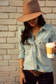 56cf4ce010 Love:) Outfits With Hats, Fall Outfits, Cute Outfits, Denim Fashion,