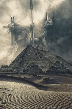 Ancient Egyptian Deities, Ancient Egypt Art, Egyptian Mythology, Egyptian Goddess, Egyptian Art, Ancient Civilizations, Egypt Concept Art, Anubis Tattoo, Dark Fantasy Art