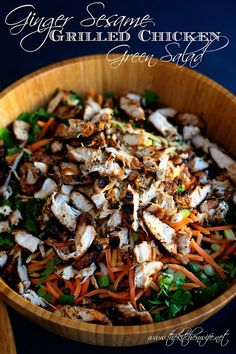 The flavors of the East have never tasted so good as they do in this delicious, Ginger Sesame Grilled Chicken Green Salad. Packed full of vitamins and greens you can feel good about this dish for dinner!