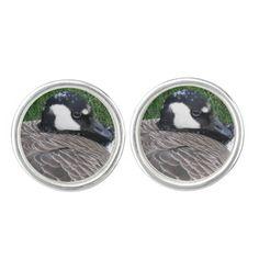 Canada Goose Cufflinks - sterling silver plated #mensjewelry #nature #birds #animals
