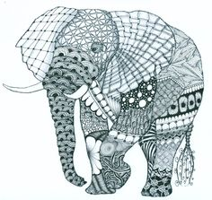 zentangle elephant | by louvebleue