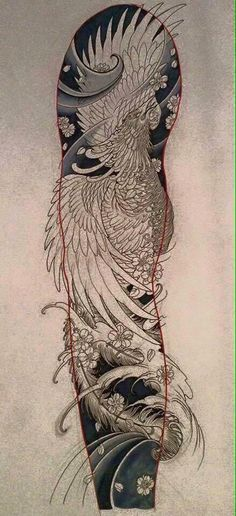 Tattoos From Around The World – Voyage Afield Japanese Phoenix Tattoo, Small Phoenix Tattoos, Phoenix Tattoo Design, Japanese Tattoo Art, Japanese Tattoo Designs, Japanese Sleeve Tattoos, Tattoo Sketches, Tattoo Drawings, Hahn Tattoo