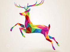 Easy Geometric Origami Deer