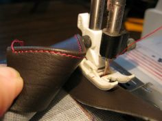 How to sew leather straps for handbags & purses.