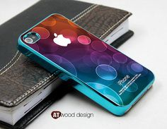 blue silvery iphone 4s case cool iphone 4 cover by Atwoodting