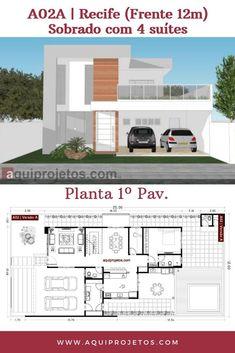 Planta de Casa Model House Plan, House Plans, Dream Home Design, Modern House Design, Sims 4, Home Projects, My House, Floor Plans, Flooring