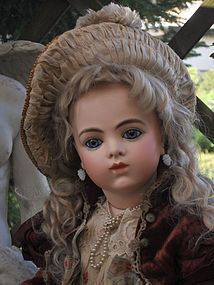 Outstanding French Bisque Bebe by Leon Casimir Bru - WhenDreamsComeTrue #dollshopsunited