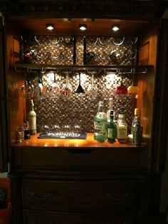how to turn an armoire into a bar google search