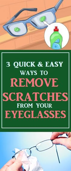 How To Remove Scratches From Your Eyeglasses #lifehacks  #cleaningtips  #hacks #cleaning