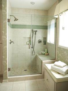 Walk In Shower Bathroom Idea. 20 Walk In Shower Bathroom Idea. 10 Walk In Shower Design Ideas that Can Put Your Bathroom Small Shower Remodel, Tub Remodel, Bathroom Bench, Bathroom Layout, Shower Bathroom, Master Bathroom, Bathroom Ideas, Bathroom Lighting, Shower Tile Designs