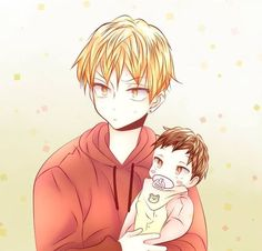Hyesung and his baby 💕saw this a while ago and wanted to cry because of how cute the baby was 😭😂 —— Manga/Manwha: Love is an illusion —— Author: Fargo —— Credits goes to the author/artists. Manga Boy, Manga Anime, Anime Art, Mpreg Anime, Anime Child, Cute Anime Pics, Manhwa Manga, Fandom, Kawaii Anime Girl