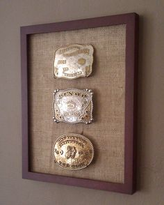 Cowboy/Cowgirl Western Belt Buckle Display