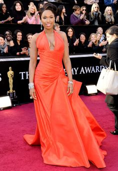Jennifer Hudson's 2011 Oscar Red Carpet Versace Dress 2