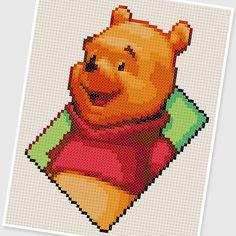PDF Cross Stitch pattern  0259.Winnie the Pooh  by PIXcross