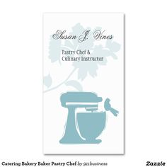Catering Bakery Baker Pastry Chef Double-Sided Standard Business Cards (Pack Of 100)
