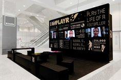 Light wall I am Playr   Indissoluble.com. Stands, multimedia, arquitectura efímera, exposiciones.
