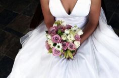 Beautiful textured bouquet with different shades of pinks and ivories.