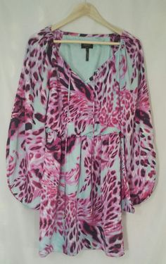 Laundry by Shelli Segal Polyester Multi-Colored Animal Print Dress Size 2 #Laundry