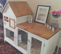 Indoor Rabbit Pen House Best Picture For Rabbit hutches blueprints For Your Taste You are looking for something, and it is going to tell you exactly what you are looking for, and you didn't find that Diy Bunny Hutch, Diy Bunny Cage, Bunny Cages, Rabbit Cage Diy, Rabbit Pen, Pet Rabbit, House Rabbit, Mini Lop Rabbit, Cage Hamster