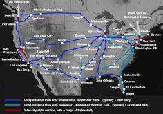 Viajando en tren en los Estados Unidos