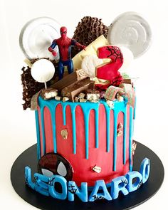 9 Ways to Decorate a Spiderman Birthday Cake – Baking Time Club Spiderman Birthday Cake, 2 Birthday Cake, Novelty Birthday Cakes, Superhero Cake, Minecraft Cake, Lego Cake, Lego Lego, Batman Cakes, Batman Batman
