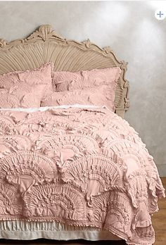 #anthrofave 9 colors // my absolute, all-time favorite bedding. I like the blush color and cream, too...
