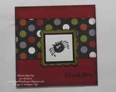 3x3 Spooky Thank You Card