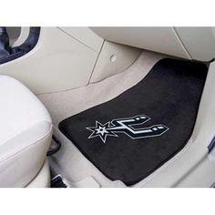 San Antonio Spurs NBA 2-Piece Printed Carpet Car Mats (18x27)