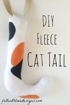 DIY Belt Loop Cat Tail Tutorial - Sheriff Callie Costume {Felt With Love Designs}
