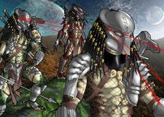 The Cantas Predator blueeyes.thats the good guy in the upcomming tv show Predator No he havent blades or a shoulder canon. The Cantas Predator Predator Alien, Apex Predator, Predator Cosplay, Alien Races, Alien Art, Funny Illustration, Horror Art, Stop Motion, Chibi