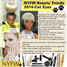 """NYFW Beauty Trends 2014-Cat Eyes"" by kusja on Polyvore"