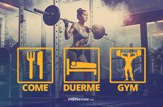 Come, duerme, gym. #fitness #motivation #motivacion #gym #musculacion #workhard #musculos #fuerza #chico #chica #chicofitness #chicafitness #sport