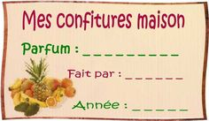 Confitures maison Printable Labels, Printables, Flylady, Photo Album Scrapbooking, Crafts For Kids, Images, Buffet, Diy, Crochet