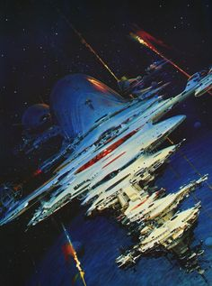 martinlkennedy:  Passage at Arms by John Berkey 1985 (From his anthology John Berkey- Painted Space, published 1991)