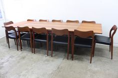 XL Mid-Century Dining Suite by Niels Moller - The Vintage Shop