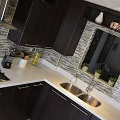 Cocina Thermofoil Espresso 6: Cocinas de estilo moderno por Toren Cocinas