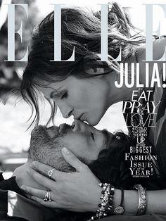 Julia Roberts & Javier Bardem - cover of ELLE magazine