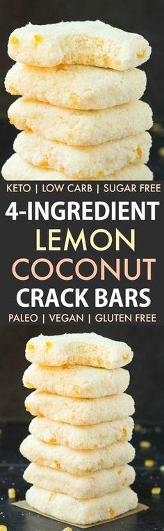 4-Ingredient No Bake Lemon Coconut Crack Bars