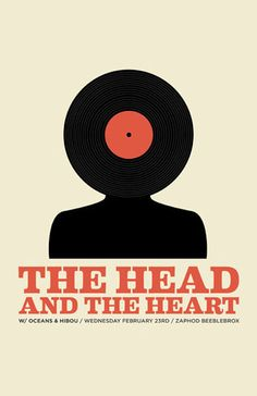 The Head And The Heart. #gigposters #musicart http://www.pinterest.com/TheHitman14/music-poster-art-%2B/