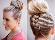 world of fashion: 'Hair Trend Alert' Inverted French Braid Top Knot Tutorial Latest Hairstyles, Braided Hairstyles, Cool Hairstyles, Classic Hairstyles, Formal Hairstyles, Summer Hairstyles, French Hairstyles, Elegant Hairstyles, Celebrity Hairstyles