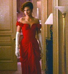 Julia Roberts Red Evening Prom Dress in  'Pretty Woman'