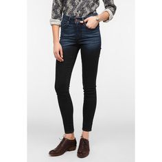 Levi's High-Rise Skinny Jean - Ombre ($40) ❤ liked on Polyvore