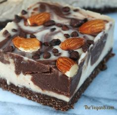 Raw Vegan Chocolate Almond Cheesecake