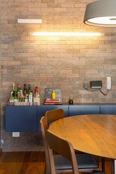 Casinha colorida: Industrial Chic: concreto aparente e pitadas de cores