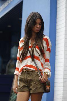 #blogger #fashionblog #orange #stripes #necessaryclothing #olive #cargoshorts #handm #leopard #vintage #louisvuitton #earlyfall #blogger #fashionblog #fashionroll