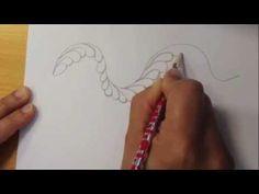 Dibuja plumas y acolcha tus diseños - YouTube