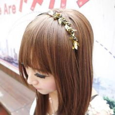 Metal `Leaf` Hair Band One Size
